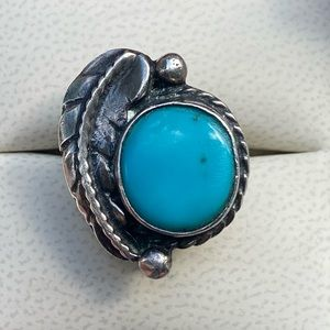 Vintage Arizona Blue Turquoise Sterling Ring